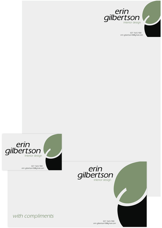 Interior design student logo and stationery design © 2011 Erin Gilbertson