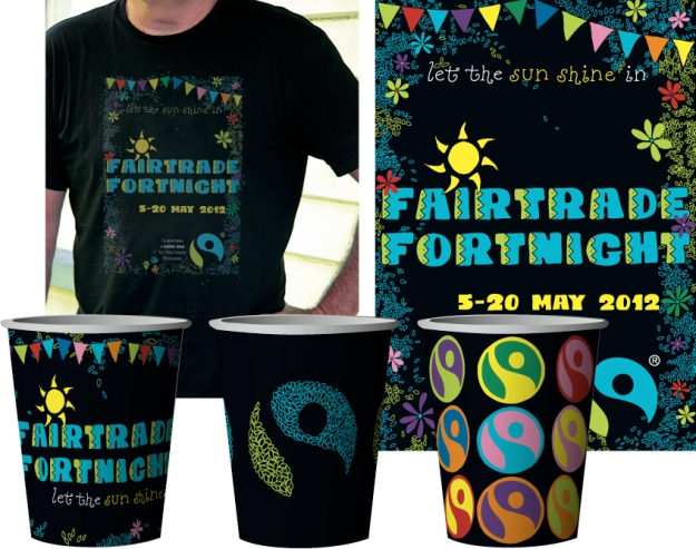Fairtrade Fortnight rebranding – student project – 2012, Design & Arts College graphic design diploma