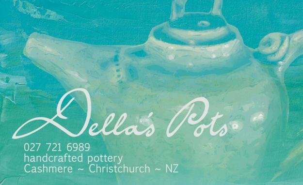 Della's Pots logo and business card © 2012 Della's Pots