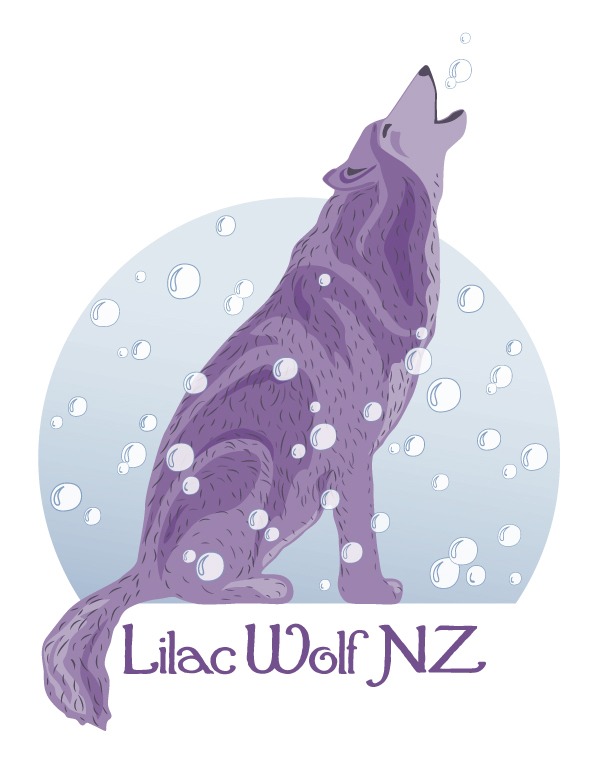 Lilac Wolf NZ logo design, competition entry, 2012.