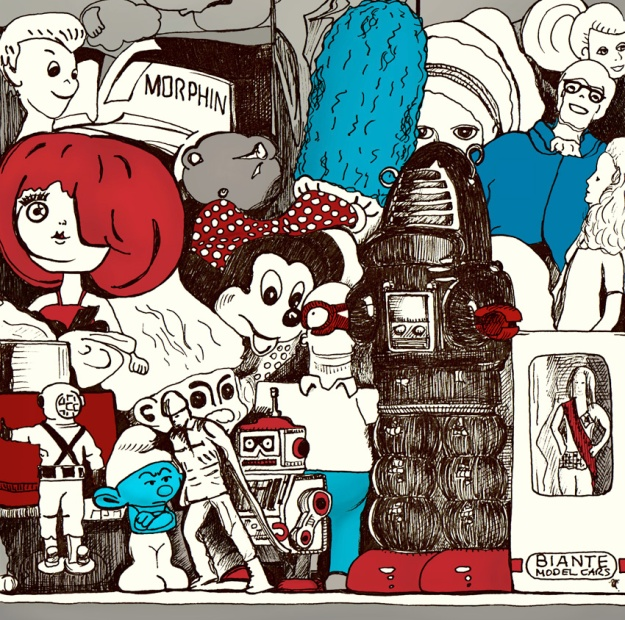 Toy museum – ink and digital, 130 x 130 mm, 2012.