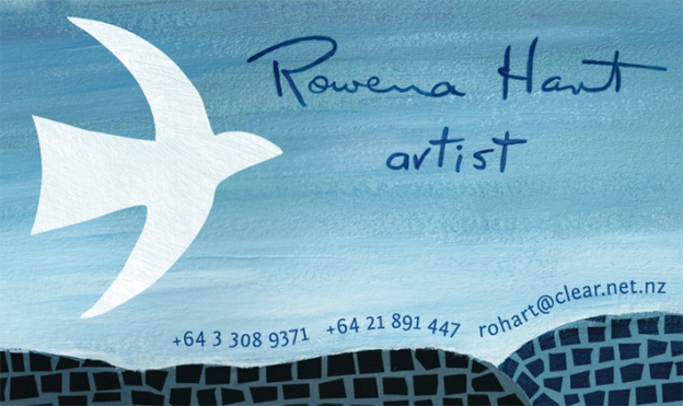 Rowena Hart logo and business card© Rowena Hart, 2012