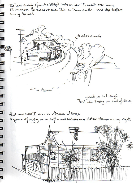 Akaroa – sketches, 2010