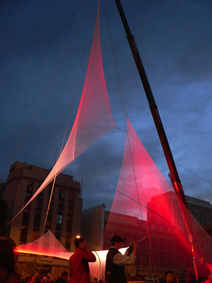 art architecture light installation Christchurch New Zealand