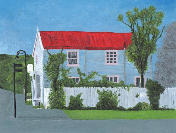 Windermere Historic House acrylic painting