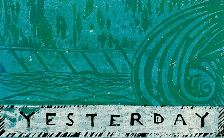 Yesterday – monoprint, 130 x 210 mm, 2010.