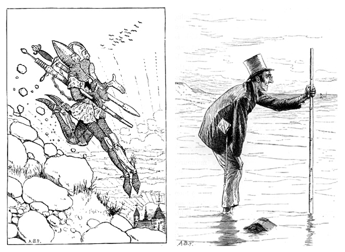 A. B. Frost – illustrations from Lewis Carroll's A Tangled Tale, 1886 Images from http://www.gutenberg.org