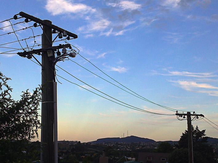 Telephone lines – Tauranga, 2013.