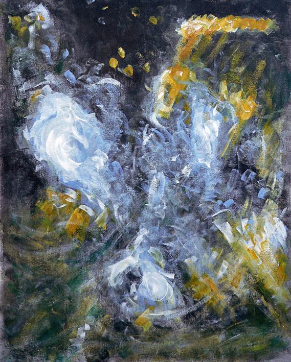 Flow (work in progress) – acrylic on canvas