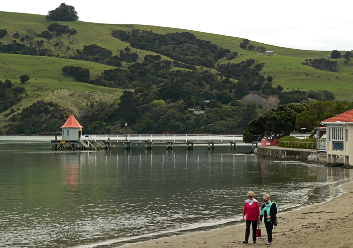 Akaroa Harbour beachfront, 2012.