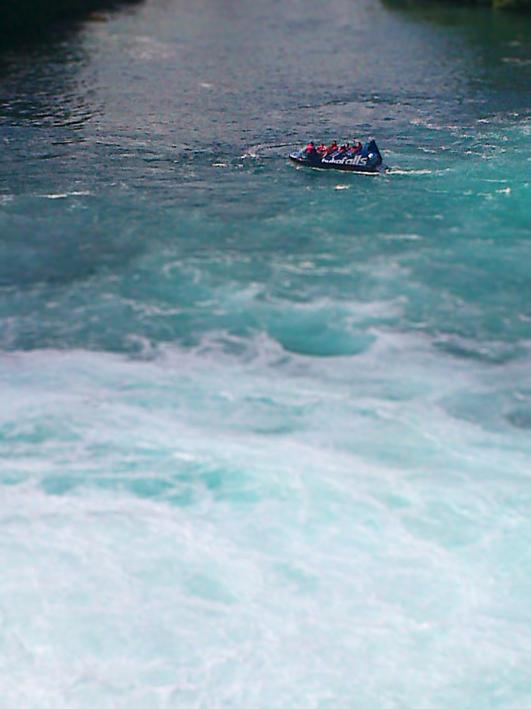 Jet boat – Huka Falls, 2013.
