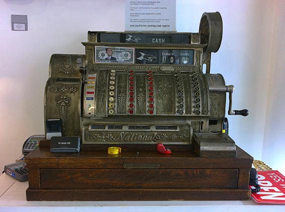 The old cash register – Tauranga, 2013