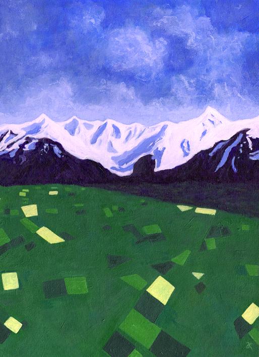 Canterbury – acrylic on canvas, 405 x 305 mm, 2013