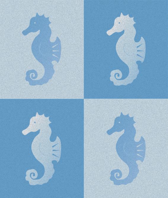 Seahorses – stamp and digital, 2002