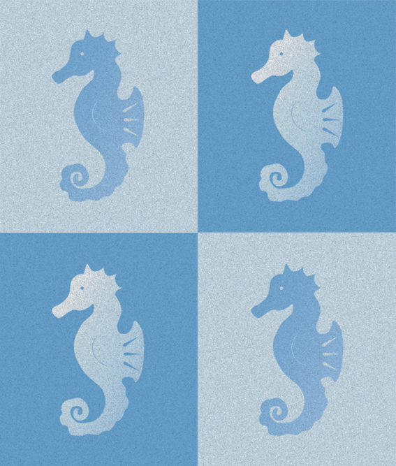 Seahorses – stamp and digital, 2002