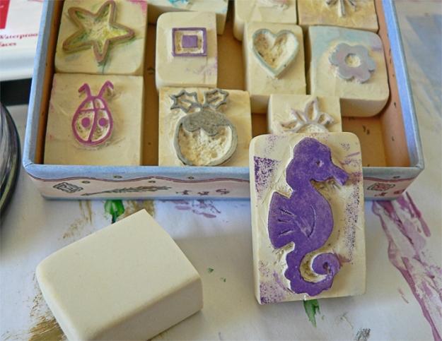 Anna Cull seahorse stamp