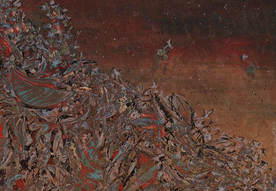 Autumn calling, orange – mixed media, 2013