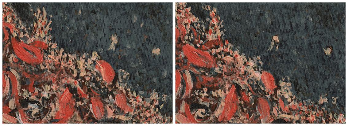 Autumn calling – acrylic on canvas, diptych: each panel 125 x 175 mm, 2013