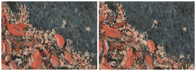 Autumn calling – acrylic on canvas, diptych: each panel 125 x 175 mm, 2013