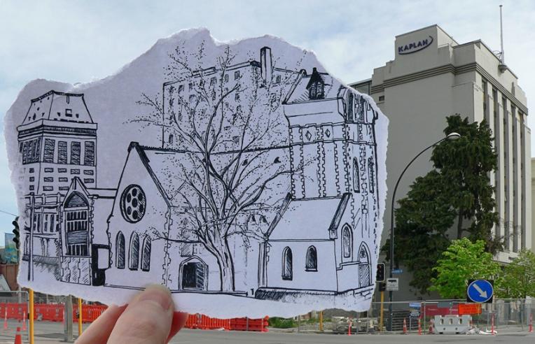Pen vs earthquake #2 – The Octagon, Design & Arts College and the Hotel Grand Chancellor, 2013