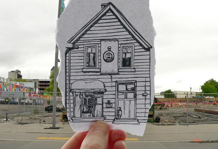 Pen vs earthquake – Shand's Emporium, 2013
