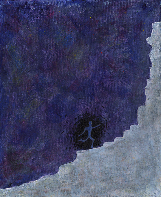 Runner – acrylic on canvas, 305 x 255 mm, 2013