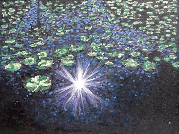 Sparkle and shine – acrylic on canvas, 455 x 610 mm, 2013