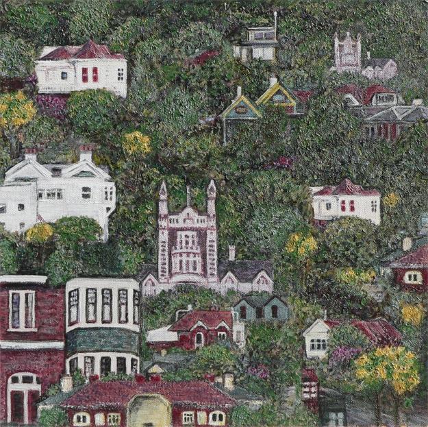 Dunedin – acrylic on canvas, 305 x 305 mm, 2013