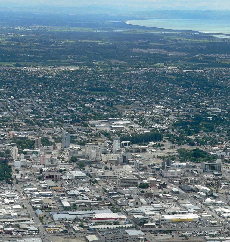 Christchurch, looking northeast, December 2013