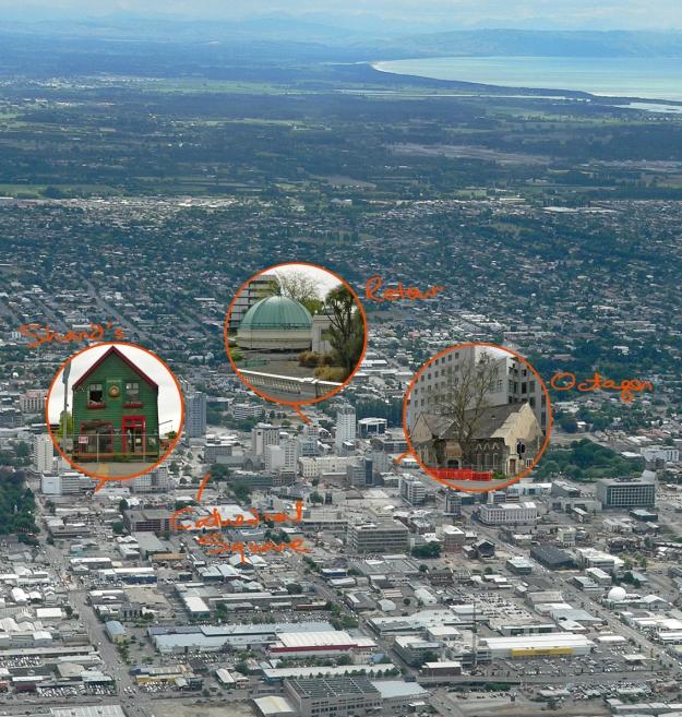 Pen vs earthquake buildings in situ