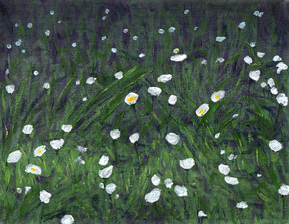 Diptych of daisies (one)