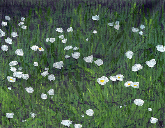 Diptych of daisies (two)