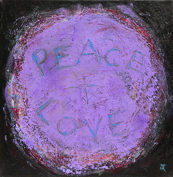 Peace and Love – acrylic on canvas, 255 x 255 mm, 2013