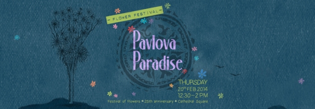 Pavlova Paradise logo and event banner © 2014 Pavlova Paradise