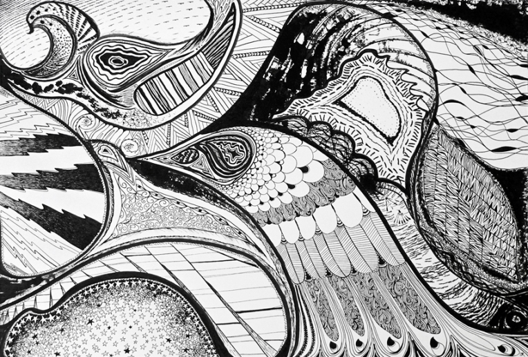 Mark making – ink on paper, 295 x 420 mm, 2010