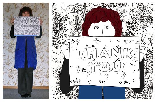 Anna Cull Thank You sketch