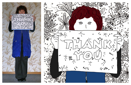 Anna Cull Thank You sketch