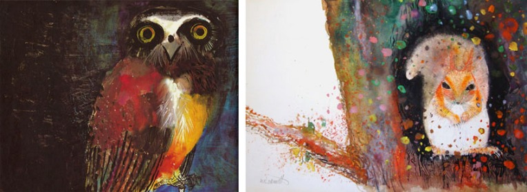 Brian Wildsmith – illustrations from Birds (1967) and Squirrels (1974) Images from http://eye-likey.blogspot.com