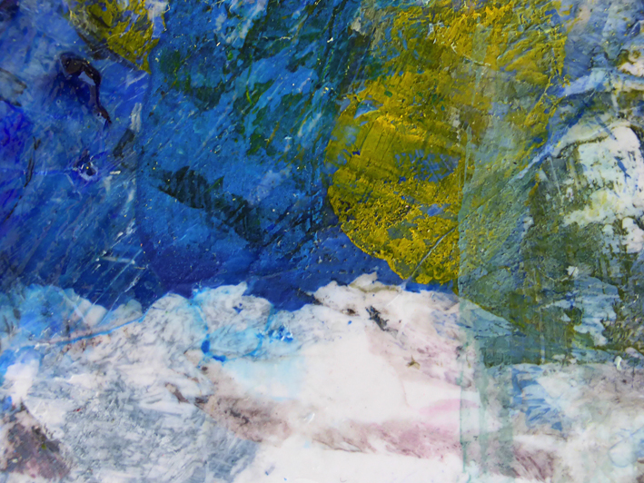 Random texture #3 – acrylic on plastic, 2014