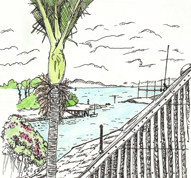 Villa 10, detail – ink and watercolour, sketchbook, 2009