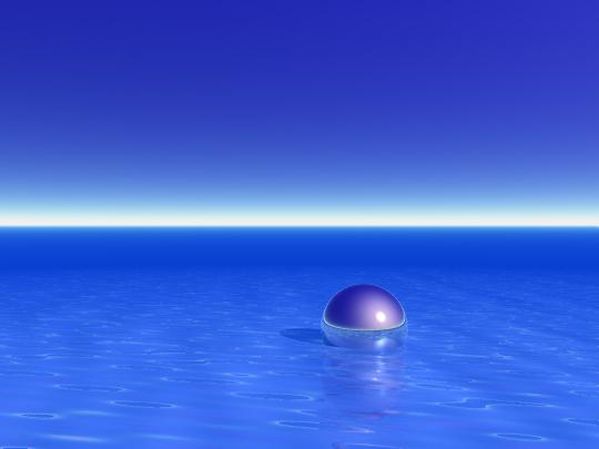 Silver ball — digital art, 2002