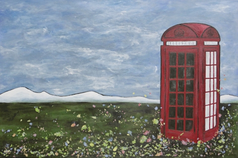 K2 in Kaiapoi (private commission) – acrylic on canvas, 610 x 915 mm, 2014