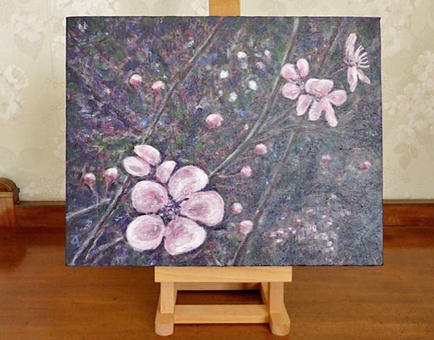 Springtime — acrylic on canvas, 280 x 355 mm, 2014