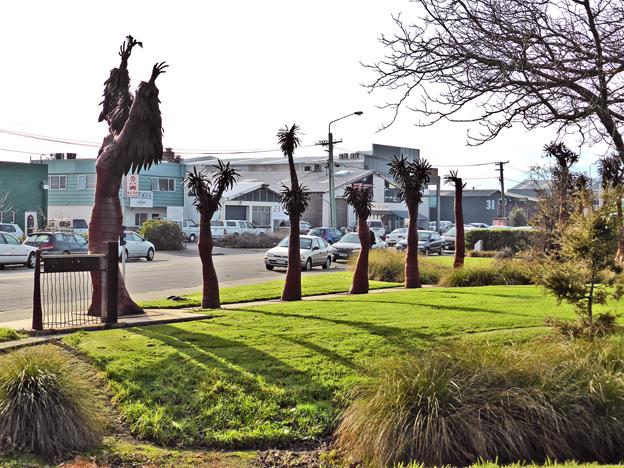 Disraeli Street sculpture by Ian Lamont, Christchurch, 2014