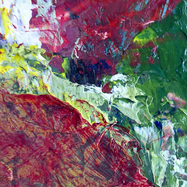 Random texture 4 — acrylic on plastic, 2014