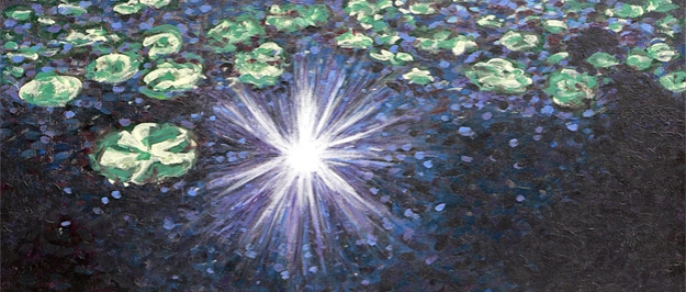 Sparkle and Shine, detail — acrylic on canvas, 2013