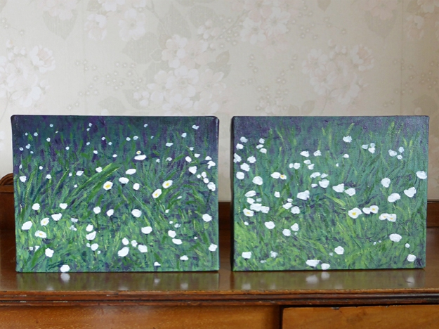 Diptych of Daisies — SOLD