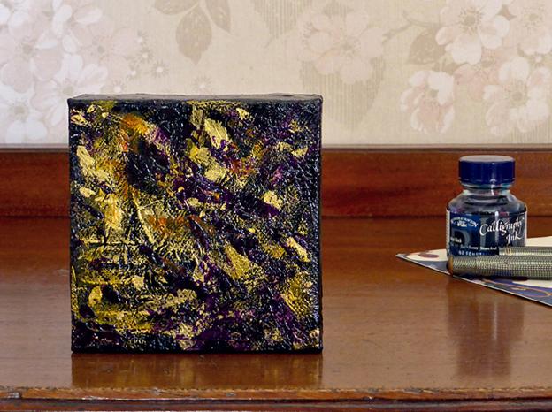 Goldmine – acrylic on canvas, 102 x 102 mm, 2014