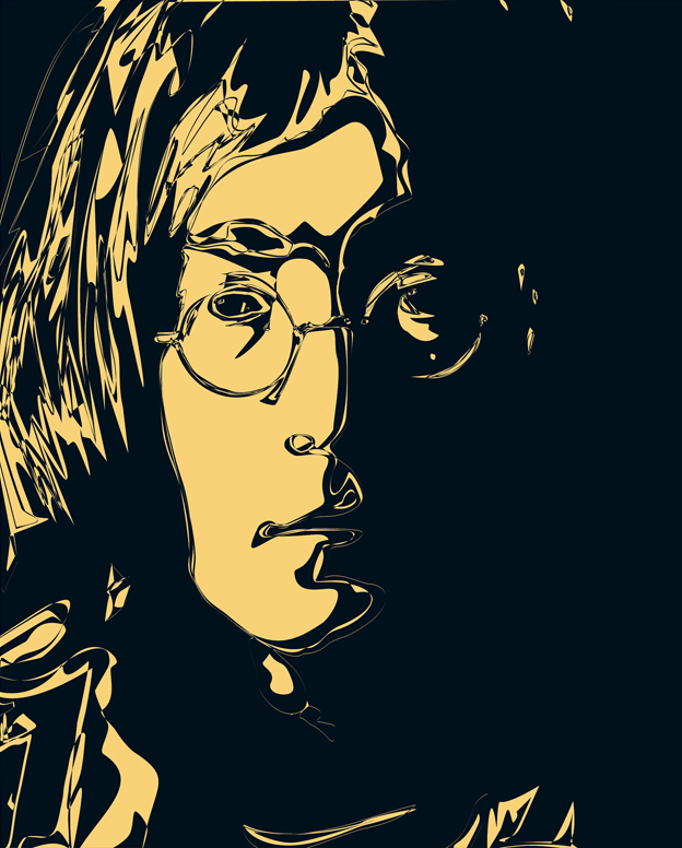 John Lennon poster 2 — digital illustration, 2011