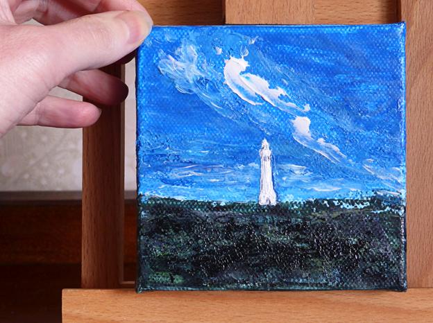 Lighthouse – acrylic on canvas,102 x 102 mm, 2014